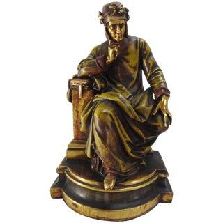 19th Century, Italian Dante Statue For Sale
