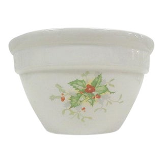 Halls China Christmas Custard Bowls - A Pair For Sale