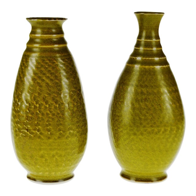 Vintage Canadian Pottery Ceramic Vases A Pair Chairish