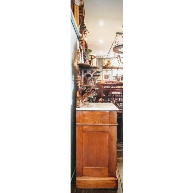 American Victorian Gothic / Renaissance Revival Italian Marble Del Duomo Topped Sideboard For Sale - Image 11 of 13