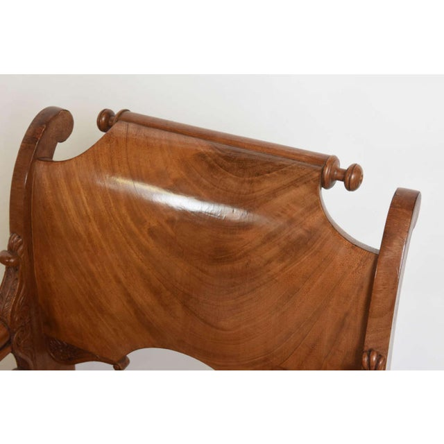 Set of Four Russian Neoclassic Mahogany Armchairs For Sale In Miami - Image 6 of 9