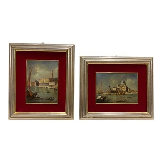 Framed Pair of Venice Landscapes -A Pair For Sale