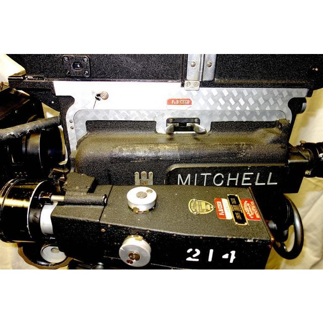 Black Rare Mitchell 35mm Antique Feature Cinema Camera Package As Sculpture For Sale - Image 8 of 10