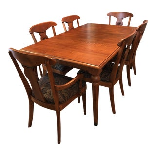 Mid-Century Modern Ethan Allen Dining Set - 7 Pieces For Sale