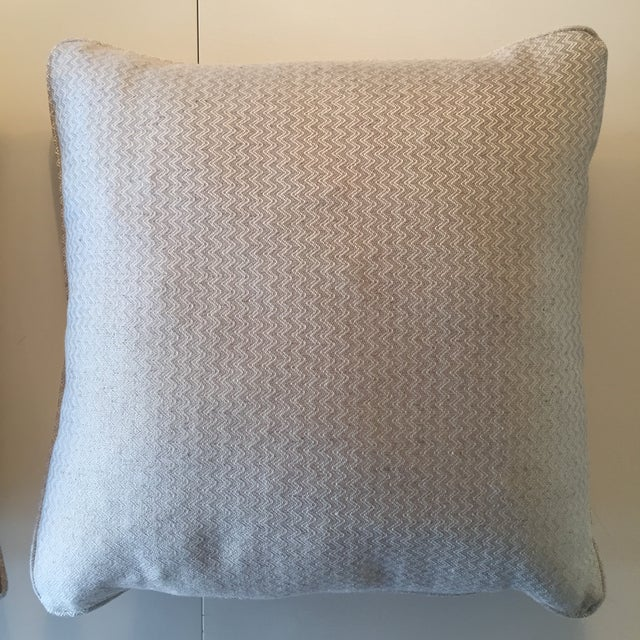 Nobilis Chevron Patterned Pillows - A Pair - Image 4 of 8