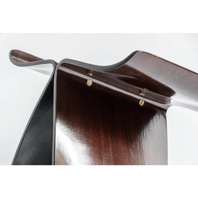 1960s Mid Century Yanagi Butterfly Bent Plywood Rosewood Stool For Sale - Image 5 of 10