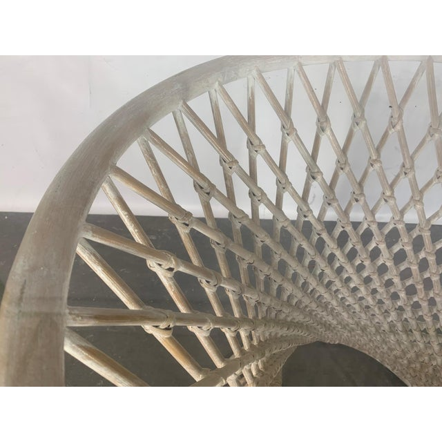 1980s Woven Rattan Sculptural Dining Table For Sale - Image 5 of 5
