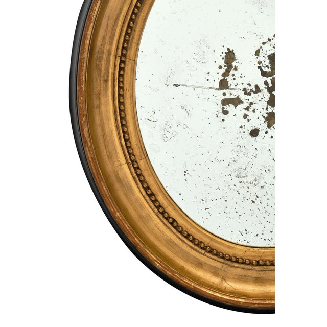 Wood Louis XVI Period French Oval Mirror For Sale - Image 7 of 10