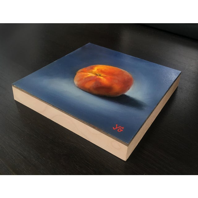 Peach Original Oil Painting For Sale - Image 4 of 5