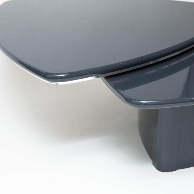 Lacquer Modern Butterfly Coffee Table In Grey Lacquer For Sale - Image 7 of 9