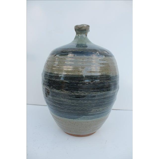 Vintage Green & Blue Glaze Bud Vase - Image 2 of 8