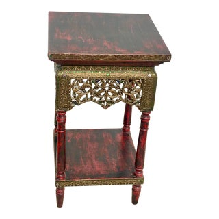 1990s Vintage Asian Jeweled Side Table For Sale