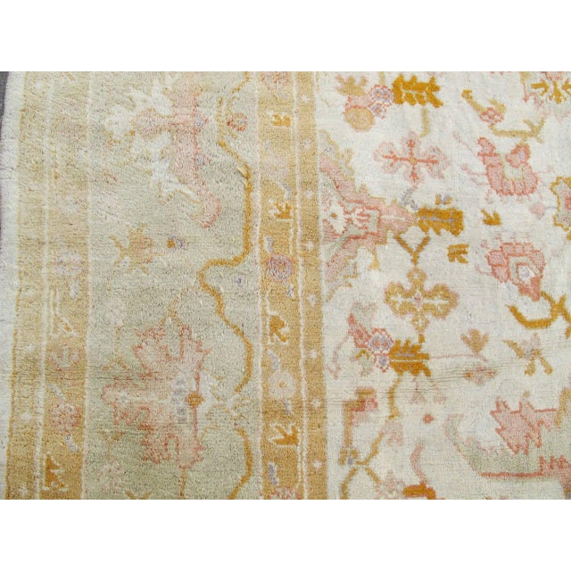 Early 20th Century Oversized Oushak Carpet For Sale - Image 5 of 10