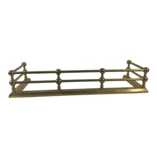 19th Century French Brass Napoleon III Fireplace Fender For Sale