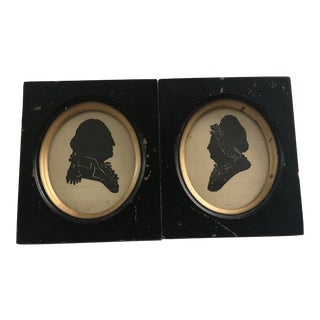 Kindel Furniture George & Martha Silhouettes Frames - a Pair For Sale