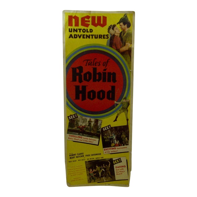 "Vintage ""Tales of Robin Hood"" 1951 Movie Poster For Sale"