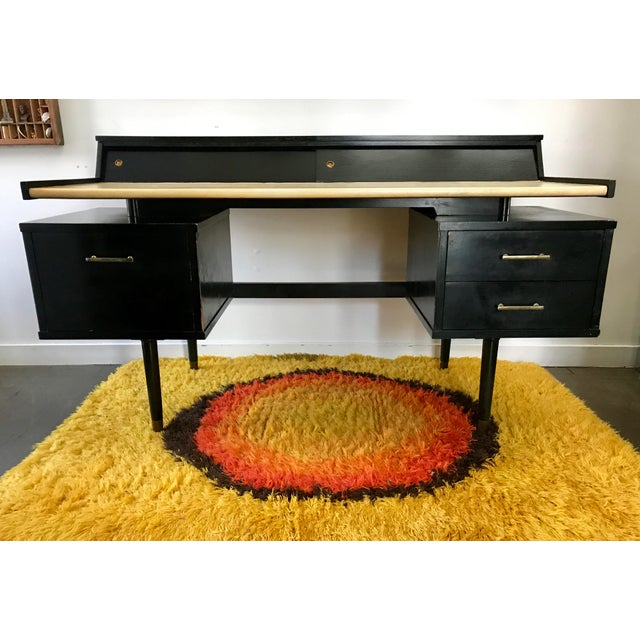 Mid Century Biscayne Floating Desk Edward Wormley for Drexel For Sale - Image 11 of 11