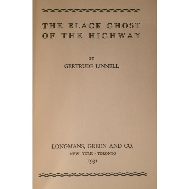 """""""The Black Ghost of the Highway"""" by Gertrude Linnell - Image 3 of 4"""
