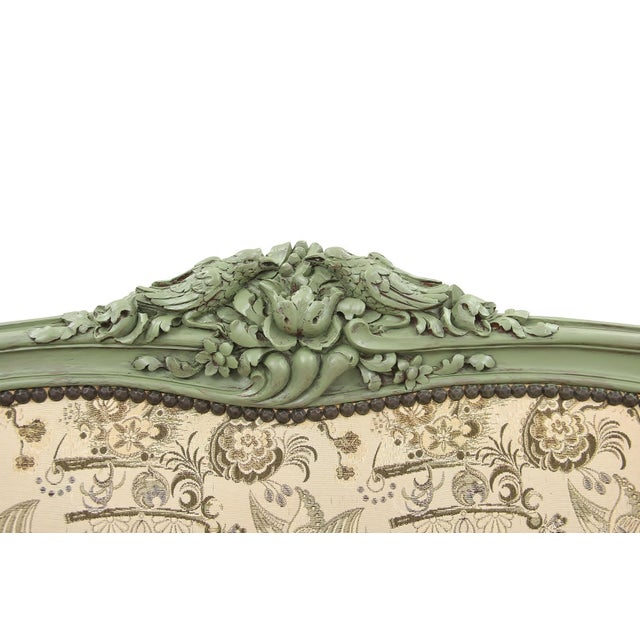 French Rococo Style Settee For Sale In Boston - Image 6 of 9