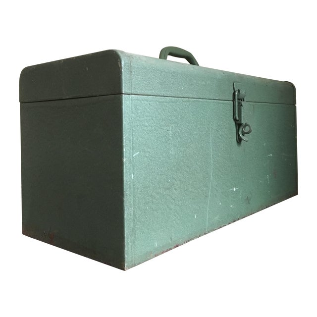 Vintage Green Kennedy Tool Box For Sale
