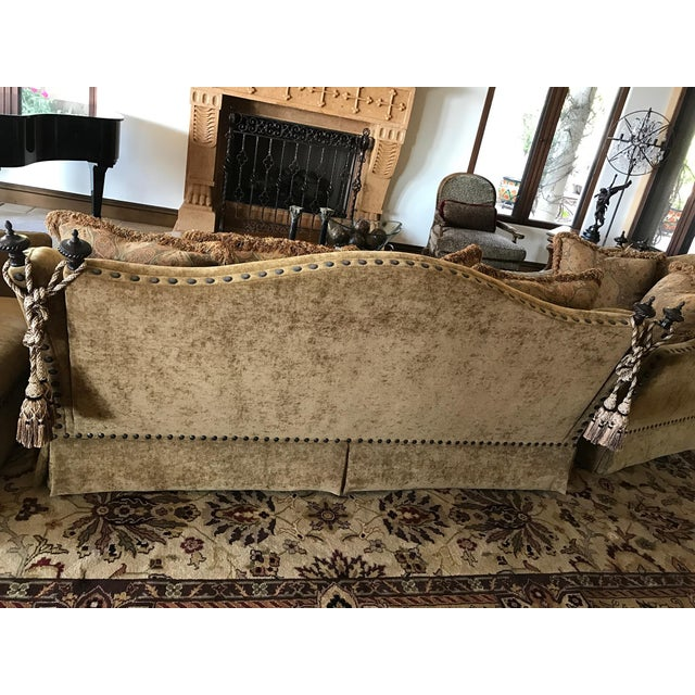 Mediterranean Marge Carson Style Sofa For Sale - Image 3 of 8