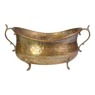 Late 19th Century Hammered Brass Jardinièr For Sale