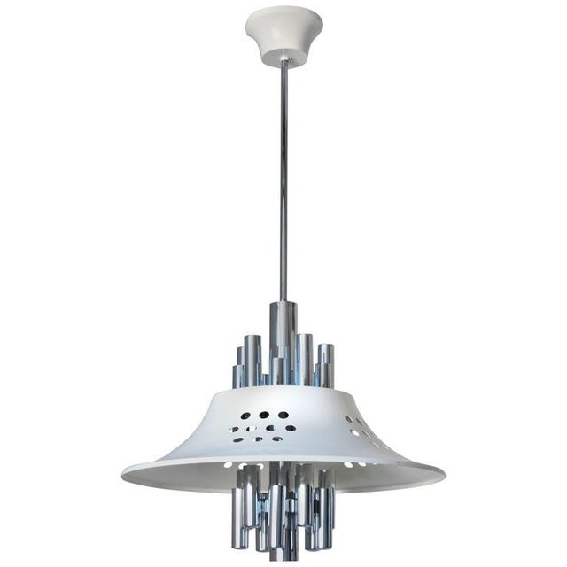 Chrome Chrome Chandelier by Sciolari For Sale - Image 7 of 7
