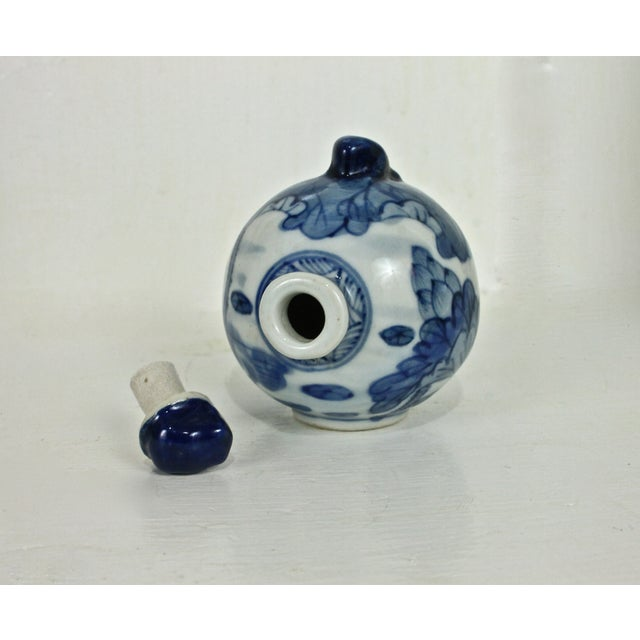 Blue & White Hand Painted Snuff Bottle - Image 7 of 7