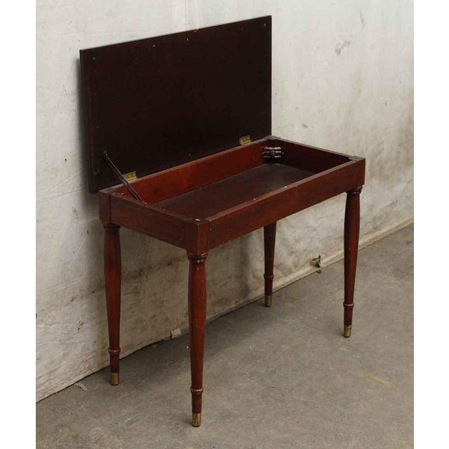 Vintage Flip Top Storage Table For Sale - Image 6 of 10