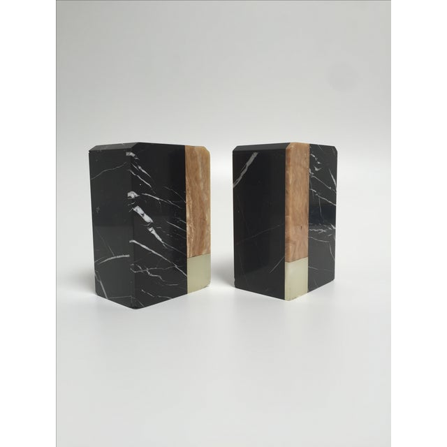 Post-Modern Marble Bookends - A Pair - Image 5 of 9