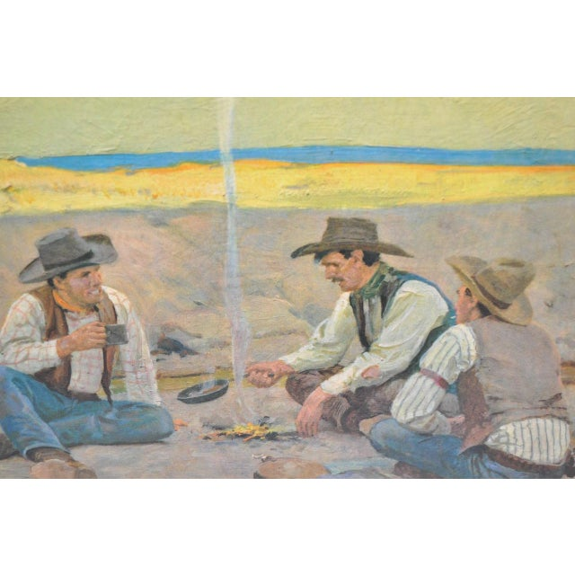 Country Donald Teague Cowboy Print For Sale - Image 3 of 5