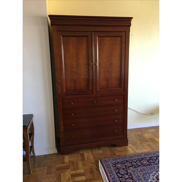 Grange french cherry armoire chairish - Grange louis philippe bedroom furniture ...