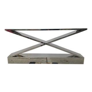 Modern Chrome Console Table