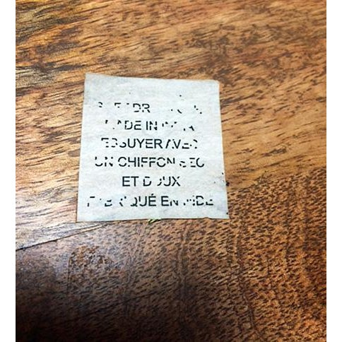 Brown Industrial Rustic Wood & Metal Bar Tray For Sale - Image 8 of 10