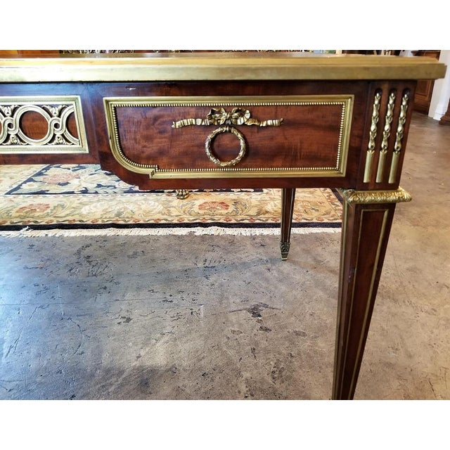 Gold 19th Century Louis XVI Style Desk by Paul Sormani For Sale - Image 8 of 13