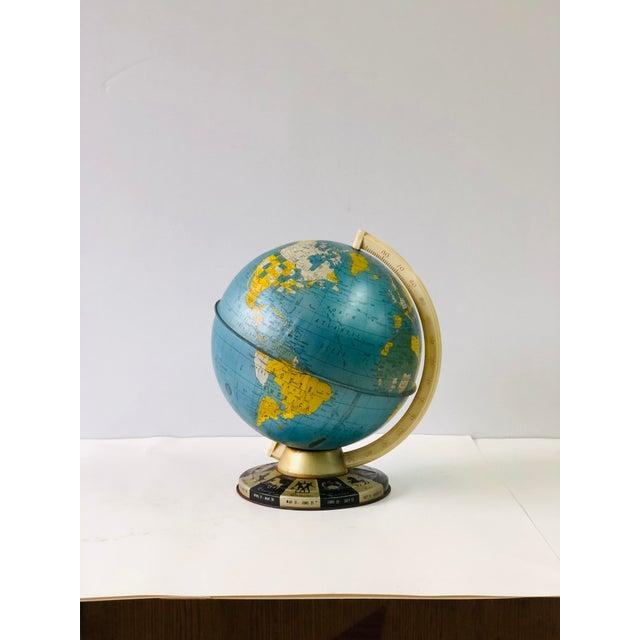 Retro Metallic World Globe With Zodiac Base For Sale - Image 13 of 13