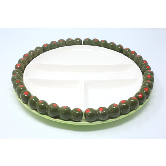 Figurative Vintage Olives Party Snack Platter by Shafford For Sale - Image 3 of 12