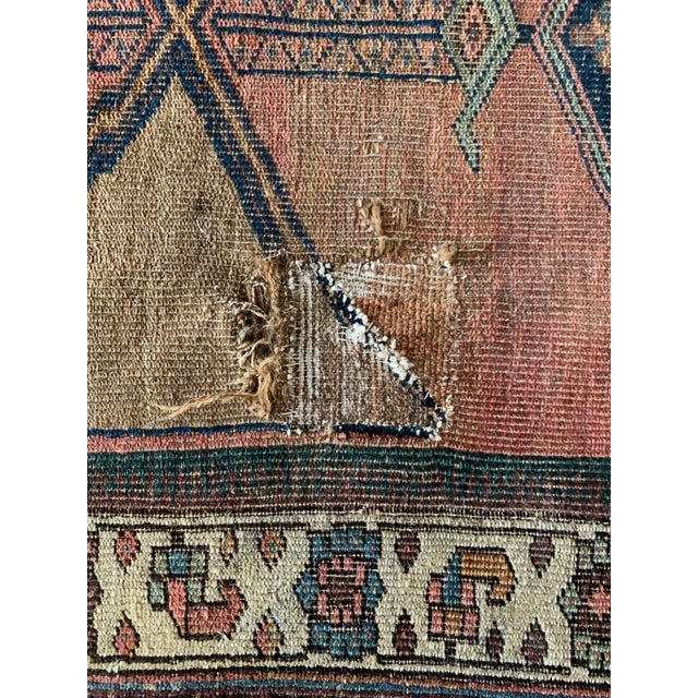 """Geometric Antique Turkish Runner - 12' 4"""" X 3' 8.5"""" For Sale In Los Angeles - Image 6 of 10"""