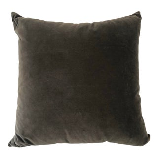 Gray Mohair Accent Pillow For Sale