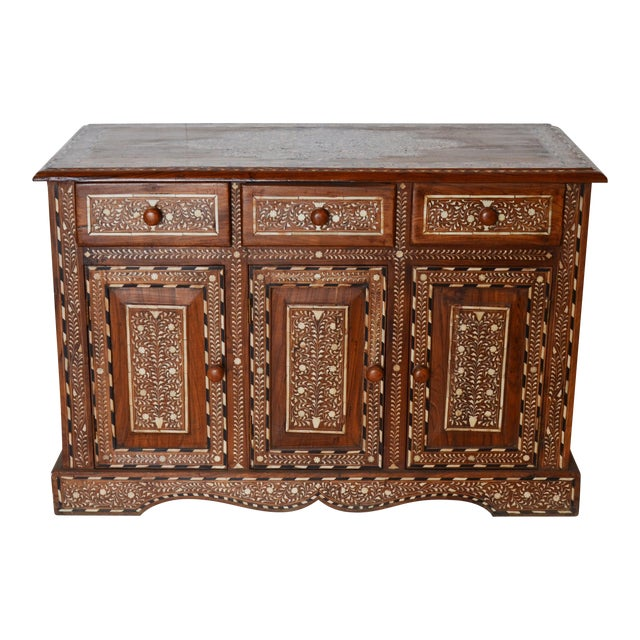 Anglo Indian Bone Inlay Cabinet For Sale