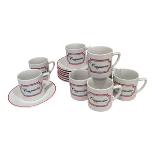 Vintage Cappuccino Mugs - Set for 8