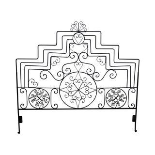 Ornate Scrolled Wrought Iron King Size Headboard