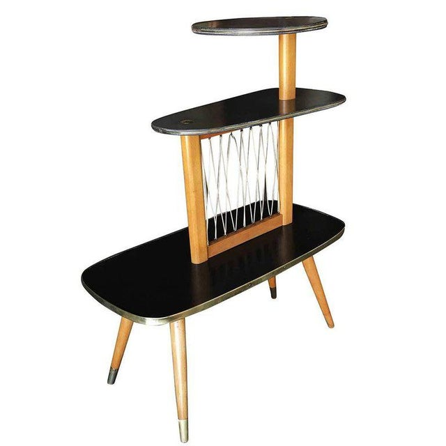 Mid-Century Modern 1950s Three-Tier Midcentury String Art Center Side Tables - Set of 3 For Sale - Image 3 of 11
