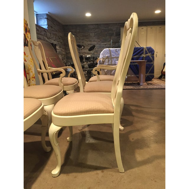 White Wood Dining Chairs - Set of 6 - Image 11 of 11