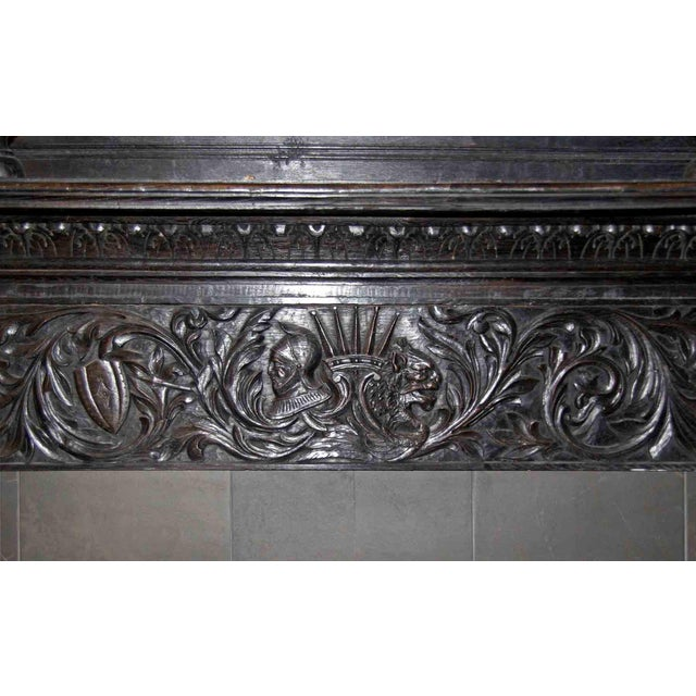 Late 19th Century Late 19th Century German Renaissance Style Carved Chestnut Mantel For Sale - Image 5 of 11