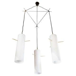 Italian 1950s Modern Pendant Light Attributed to Stilnovo For Sale