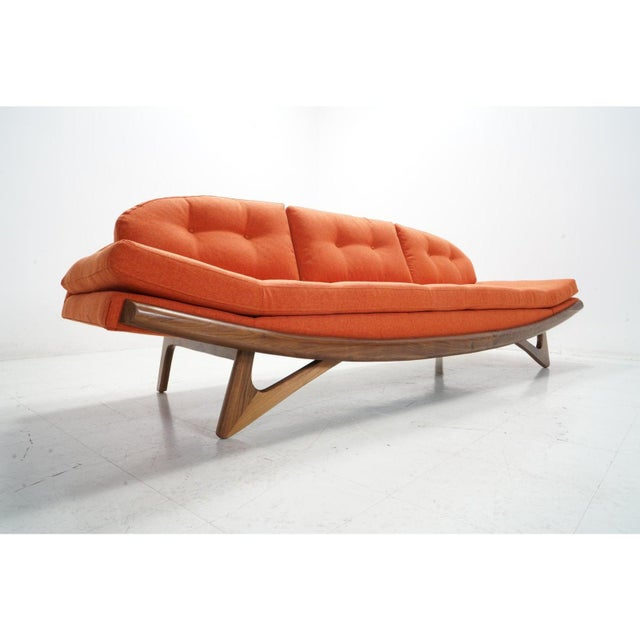 2020s Attributed Adrian Pearsall Gondola Sofa For Sale - Image 5 of 8