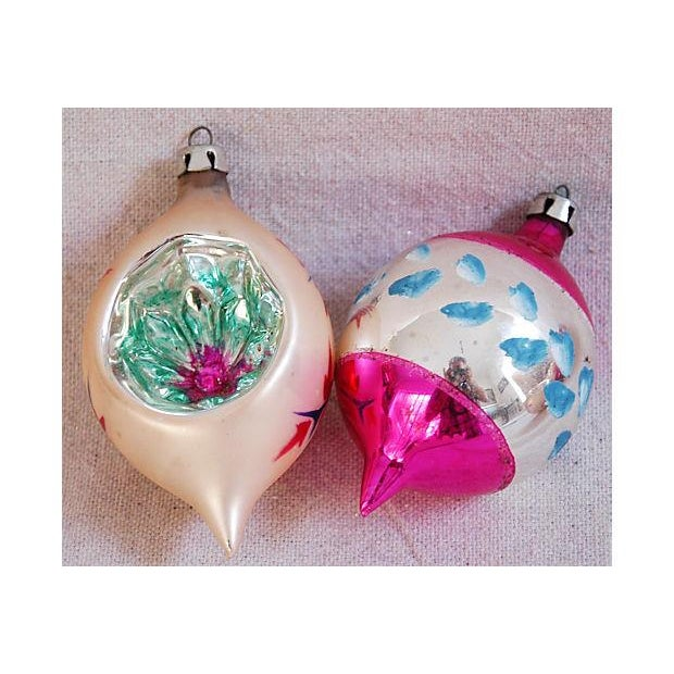1950s Fancy Christmas Indent Ornaments - Set of 12 - Image 4 of 6