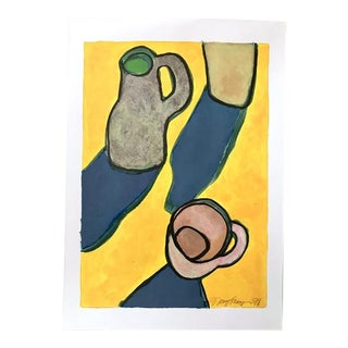 """2010s Pop Art Original Painting, """"Pitcher Cup"""" by Neicy Frey For Sale"""