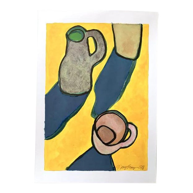 "2010s Pop Art Original Painting, ""Pitcher Cup"" by Neicy Frey For Sale"